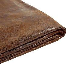Forro de gamuza marrón para la cama 160x200 cm