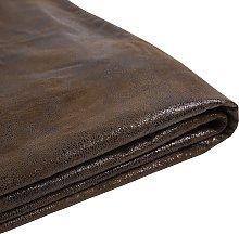 Forro de gamuza marrón para la cama 180x200 cm