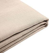 Forro de tela beige para la cama 160x200 cm FITOU