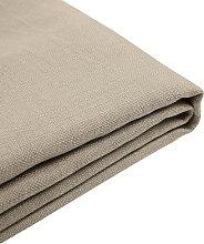 Forro de tela beige para la cama 180x200 cm FITOU