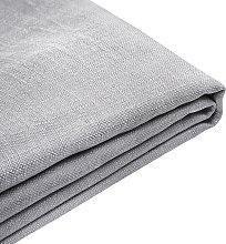 Forro de tela gris claro para la cama 160x200 cm