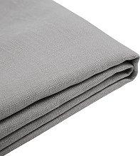 Forro de tela gris claro para la cama 180x200 cm