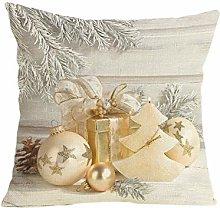FossenHyC 45x45 Funda de Cojin Navidad Algodón