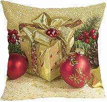 FossenHyC Funda de Cojin Navidad Algodón Lino,