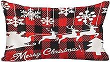 FossenHyC Fundas Cojines Navidad Rectangular