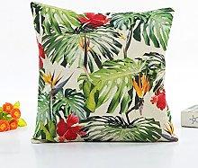 Fossrn Tropical Funda Cojines 45x45 - con Hojas