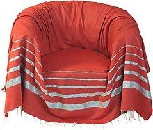 Fouta Futée–Manta para sofá (Cuadrado en