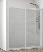 Frontal de ducha Mampara Cares, 1 fija + 1