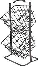Fruit Basket Stand 2-Tier Almacenamiento