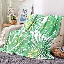 FTCAKET Mantas Para Cama Invierno Verde hojas