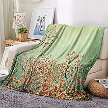 FTCAKET Mantas Para Sofá De Franela Suave Verde