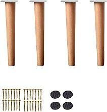 FTYYSWL 4 patas de madera para muebles, patas de