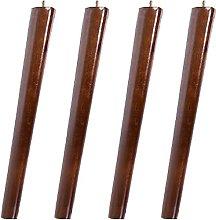 FTYYSWL 4 patas de madera para sofá, patas