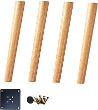 FTYYSWL 4 patas de muebles de madera maciza, patas