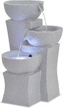 Fuente de agua de interior con LED de poliresina -
