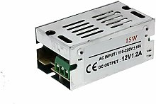 Fuente de alimentación para tiras LED 15W 12VDC -