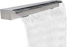 Fuente rectangular de acero inoxidable para