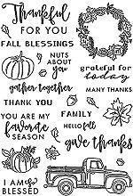 FUNCOCO Sello transparente de Acción de Gracias,