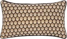 Funda de cojín de algodón marrón estampado 50x30