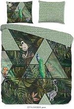 Funda de edredón DANIQUE 200x200/220 cm - Verde -