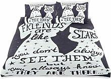 Funda de edredón Friends Are Like Stars Cita con