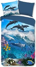 Funda de edredón infantil Andre 135x200 cm - Azul