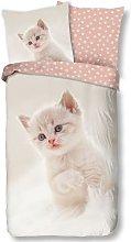 Funda de edredón infantil CATTY 135x200 cm blanco