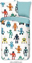 Funda de edredón infantil Robots 135x200 cm -