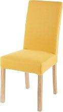 Funda de silla de algodón amarillo mostaza 41x70