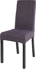 Funda de silla de algodón gris carbón 41x70