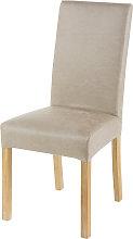 Funda de silla de antelina beis 41x70