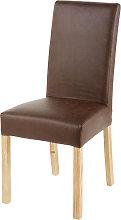 Funda de silla de antelina marrón 41x70