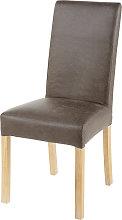 Funda de silla de antelina topo 41x70