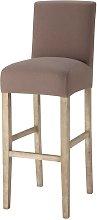 Funda de silla de bar de algodón gris topo -