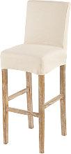 Funda de silla de bar de lino