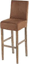 Funda de silla de bar de suedina color chocolate