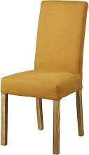 Funda de silla de lino ocre