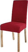 Funda de silla de tela burdeos