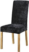 Funda de silla de terciopelo negro