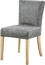 Funda de silla gris carbono