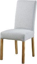 Funda de silla gris perla