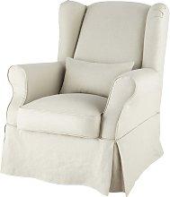 Funda de sillón de lino