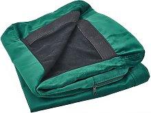 Funda de sofá 2 plazas de terciopelo verde BERNES