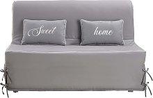 Funda de sofá cama gris claro