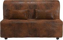 Funda de sofá de antelina marrón para sofá-cama