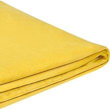 Funda de terciopelo amarillo para cama 180 x 200