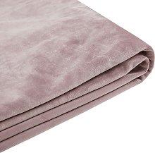 Funda de terciopelo rosa para cama 160 x 200 cm