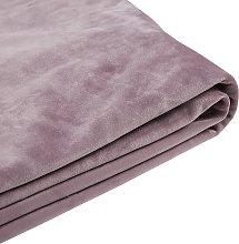 Funda de terciopelo rosa para cama 180 x 200 cm