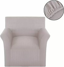 funda elastica de tela acanalada para sofa color