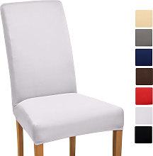 funda elástica para sillas - modelo Mia Blanco,